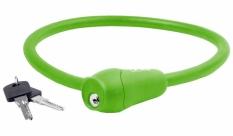 Zapięcie rowerowe M-Wave 12x600 silikon kluczyk zielone