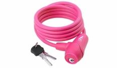 Zapięcie rowerowe M-Wave 8x1500 kluczyk różowe