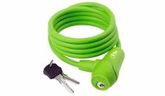 Zapięcie rowerowe M-Wave 8x1500 silikon kluczyk zielone