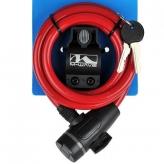 Zapięcie rowerowe M-Wave 10x1800 klip kluczyk czerwone