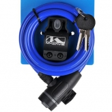 Zamknięcie m-wave spirala 10mm x 180 typu klip kluczyk niebieskie