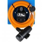 Zapięcie rowerowe M-Wave 10x1800 klip kluczyk pomarańczowe
