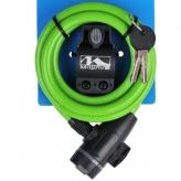 Zamknięcie m-wave spirala 10mm x 180 typu klip kluczyk zielone