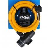 Zapięcie rowerowe M-Wave 10x1800 klip kluczyk żółte