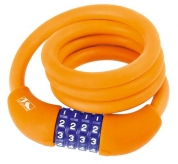 Zapięcie rowerowe M-Wave 12/1000 szyfr silikon pomarańczowy