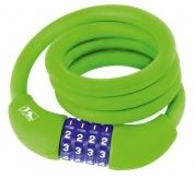 Zamknięcie m-wave spirala 12mm x 1000 szyfr silikon zielone