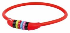 Zamknięcie m-wave spirala 12mm x 650 szyfr silikon czerwone