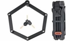 Zapięcie rowerowe Sekura składane kluczyk czarne