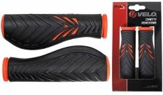 Chwyty Velo Prox 130mm pomarańczowo-czarne comfort gel