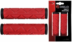 Chwyty Velo Prox 122mm GEL czarno-czerwone