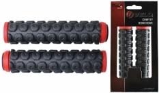 Chwyty Velo Prox 130mm czerwono/czarne GEL