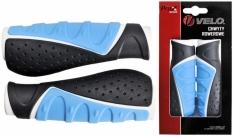 Chwyty velo prox vlg-709ad3 130mm biało-niebieskie-szare comfort gel