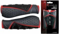 Chwyty rączki rowerowe Velo Prox vlg-709ad3 czarne-szare-czerwone