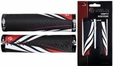 Chwyty rączki rowerowe Velo Prox vlg-851ad3 czarno-czerwone