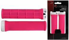 Chwyty Velo Prox 132mm różowe skręcane