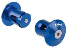 Korki w kierownicę M-Wave alu niebieskie