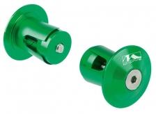 Korki w kierownicę m-wave alu zielone