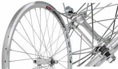 Koło rowerowe przednie 20 Swift stożek srebrne