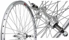 Koło rowerowe tylne 20 Swift stożek srebrny