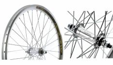 Koło rowerowe przednie 24 atb Swift stożek srebrne