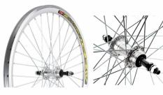 Koło rowerowe tylne 24 atb Swift stożek srebrny