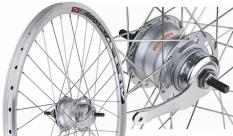 Koło rowerowe tylne 26 stożek srebrne Nexus 7
