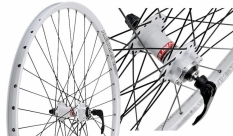 """Koło rowerowe przednie 27,5"""" Alexrims SX44 białe tarcza"""