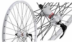 """Koło rowerowe przednie 28/29"""" Alexrims SX44 białe tarcza"""