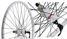 """Koło rowerowe tylne 28/29"""" Alexrims SX 44 białe tarcza"""