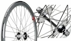Koło 700 fix bike przód j13 stożek srebrny  szprychy srebrne nierdzewne