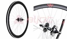 Koło 700 fix bike tył j13 stożek czarny białe szprychy