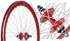 Koło 700 fix bike tył j13 stożek czrwony białe szprychy