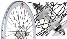 Koło 700 fix bike tył j14 stożek biały czarne szprychy
