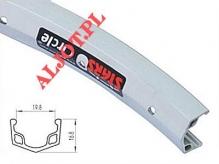 """Obręcz 27"""" stars j20ar  aluminiowa 36 otw."""