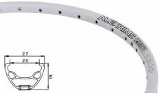 """Obręcz 27,5"""" 650b Alexrims SX44 biała oczkowana 36 otw."""