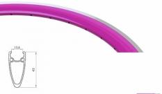 Obręcz 700 fix swift j13 dt stożek 43 mm magenta 36 otw.