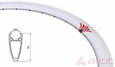 Obręcz 700 fix swift j13 dt stożek 43 mm srebrna 36 otw.