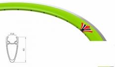 Obręcz 700 fix swift j13 dt stożek 43 mm zieleń traw 36 otw.