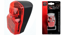 Lampa tył x-light na błotnik 1 super led -  prądnica i potrzymanie (xc-114c)