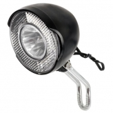 Lampka rowerowa przednia czarna dynamo