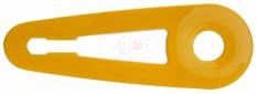 """Osłona  łańcucha  18"""" żółta +uchwyt"""
