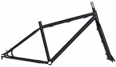 """Rama fat bike cr-mo 17"""" - czarny mat+widelec"""