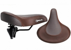 Siodełko rowerowe Velo Prox vl-8088 brązowe