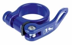 Obejma z szybkozamykaczem M-Wave 34,9mm niebieska