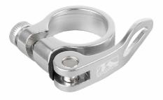 Obejma m-wave z szybkozamykaczem 34,9mm srebrna