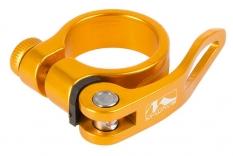 Obejma m-wave z szybkozamykaczem 34,9mm żółto-pomarańczowa