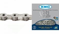 """Łańcuch rowerowy KMC X9SL 1/2""""x11/128"""" 116 ogniw 9-rz."""