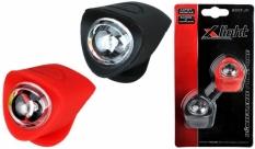 Zestaw lamp x-light diodowych silcon (xc-134) czarno-czerwona