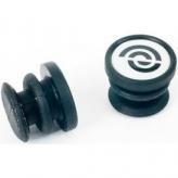Bikeribbon eind plug Siliconen zwart