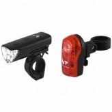 Zestaw lampek rowerowych Mactronic baterie